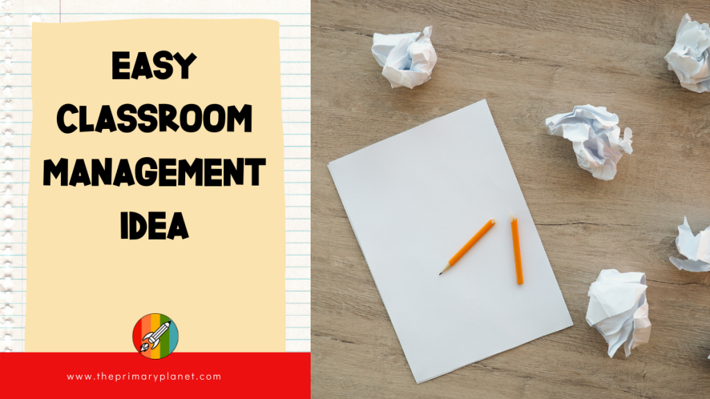 easy classroom management idea