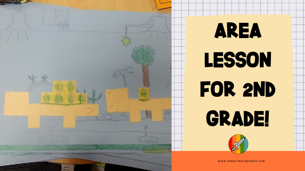 area lesson for 2nd grade