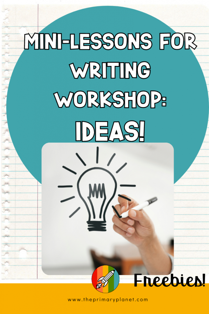 Mini Lessons for Writing Workshop: Ideas Pin