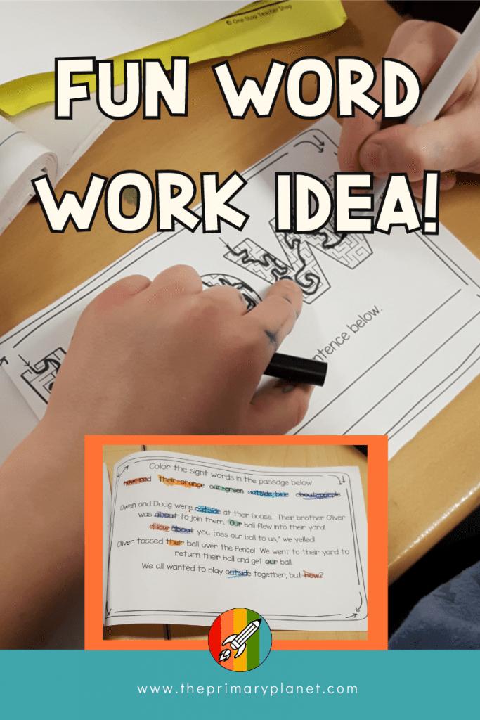 Fun Word Work Idea!