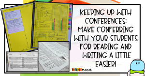 Reading Conference Forms Writing Conference Forms