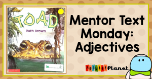 Mentor text for teaching adjectives.