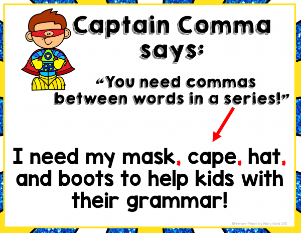 Comma Use Posters and Worksheets
