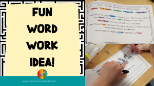 Fun Word Work Idea