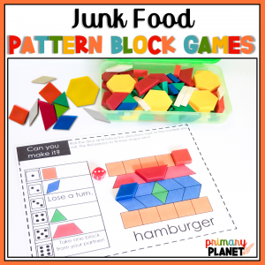 Math Games with Pattern Blocks and Dice
