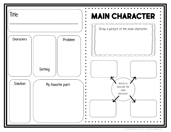 Reading homework Comprehension Activity Character Traits