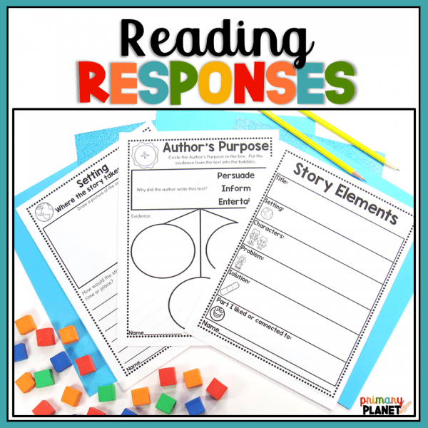 responding to reading activities journal or worksheets