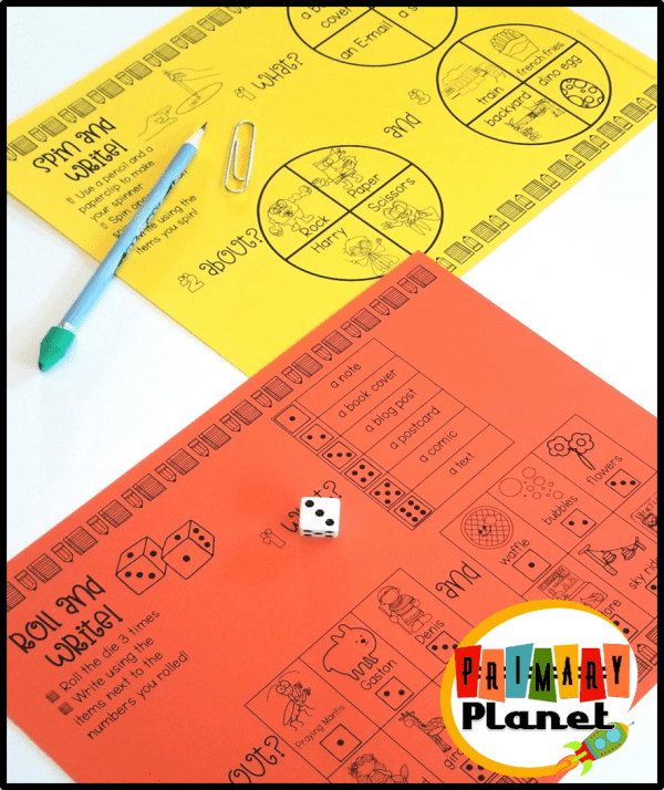 Roll and Write, Spin and Write, Writing Games Anytime