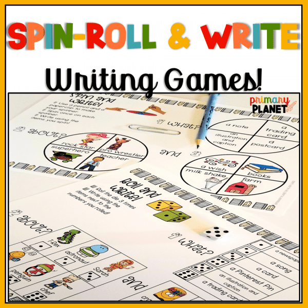 Spin, Roll, and Write, Writing Games Anytime
