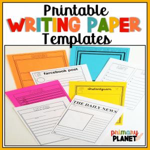 printable writing paper templates